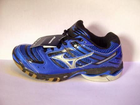 Jual sepatu volly Mizuno Wave Lighting 7 Harga Grosir biru