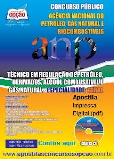 Apostila concurso da ANP 2015, versão impressa e digital (PDF). Compre aqui.