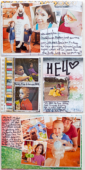 Heather Greenwood Designs | Week 33 insert back | The Lilypad Mixed Media Monthly | #mixedmedia #hybridscrapbooking #pocketscrapbooking