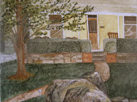 Tasma House Verandah Watercolor Painting by Carla Maxwell