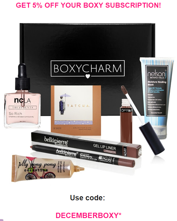 Dec 06, · Boxycharm Coupon Code & Discount Treat yourself to huge savings with Boxycharm Promo Codes: 47 promo codes, and 10 deals for December go to maintainseveral.ml Discounts average $26 off w/ a Boxycharm promo code or coupon. Verified Promotional Code for Limited Time.