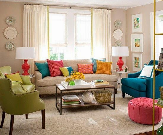 Modern and colorful living room designs