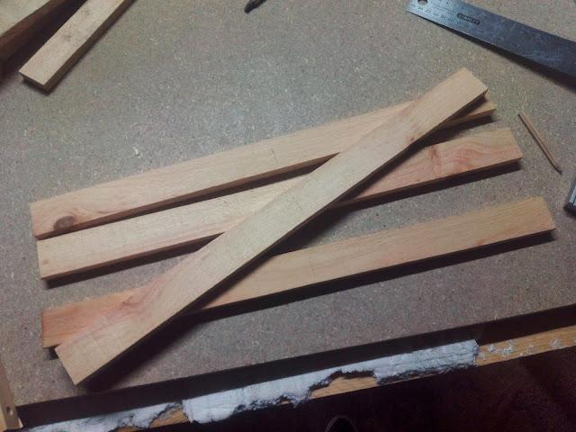 Arbol de madera listones paso a paso