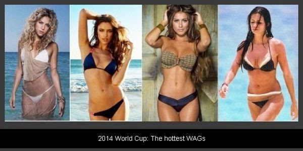 FIFA 2014 hottest WAGs