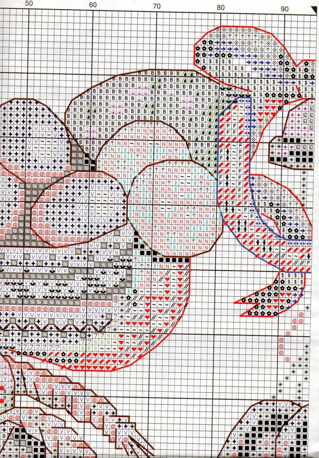 Схема вышивки венок изобилия 89