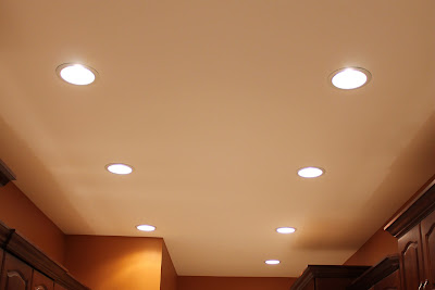 Kitchen renovation: recessed lights