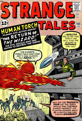 Strange Tales #105, the Human Torch vs the Wizard and his force field