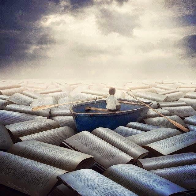 Un mar de libros.