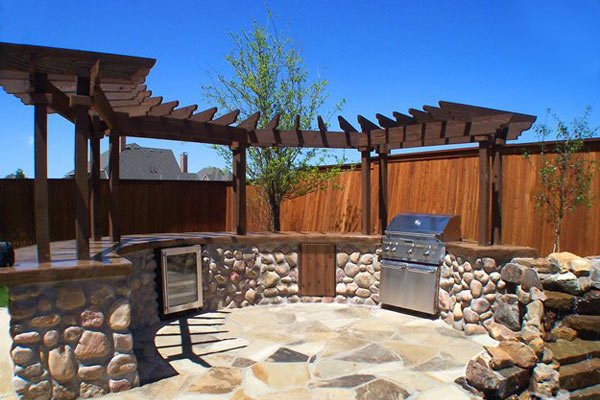 Desain Dapur Outdoor Modern untuk Rumah Minimalis