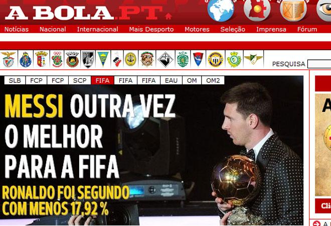 A Bola elogió a Messi