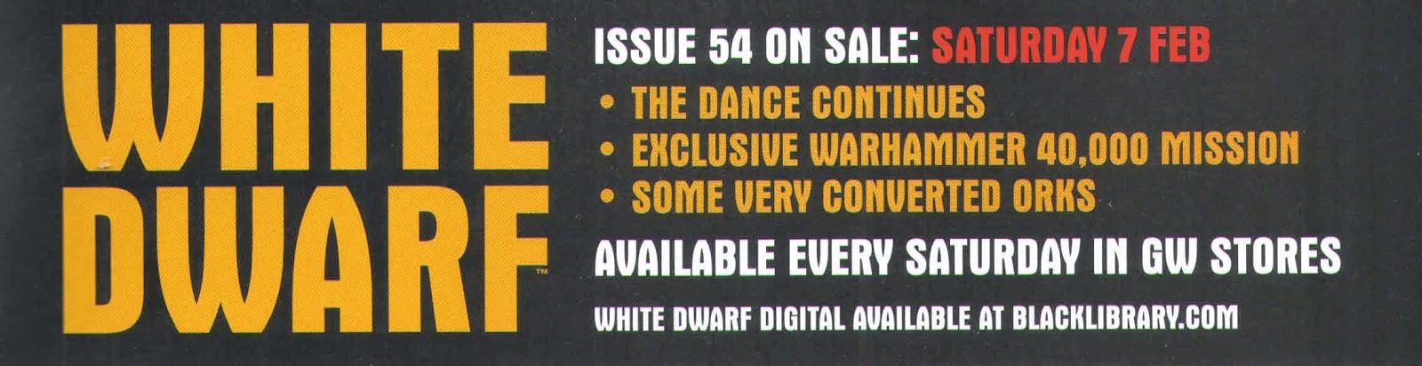 Adelanto de la White Dwarf Weekly número 54