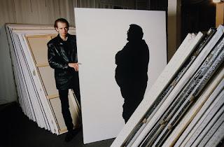 Klaus Guingand Studio :Shadow paintings - 1994