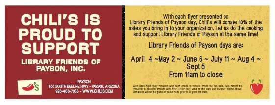 Chili's supports Library Friends of Payson