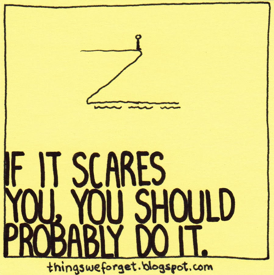 If it scares you, you should probably do it.