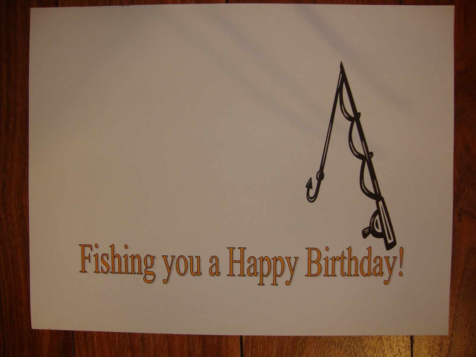 Fishing birthday print the melrose family for Fishing birthday cards