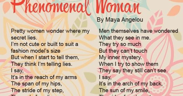 Essay on maya angelou phenomenal woman
