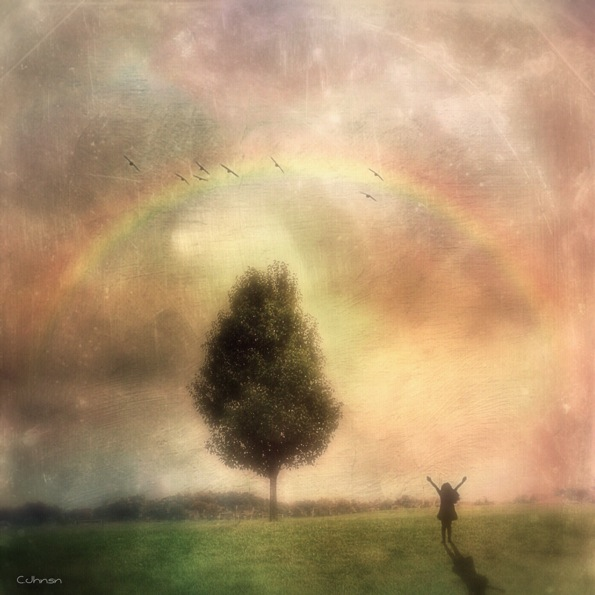 The Girl and the Rainbow © Cyndy Johnson