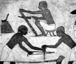 Representacion de artesanos egipcios