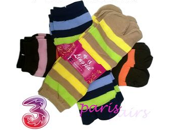Shopclues: Buy Colorful Ladies Socks- 6 Pairs at Rs. 151