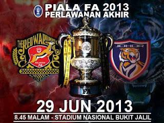 Keputusan Kelantan vs JDT 29 Jun 2013 Final Piala FA