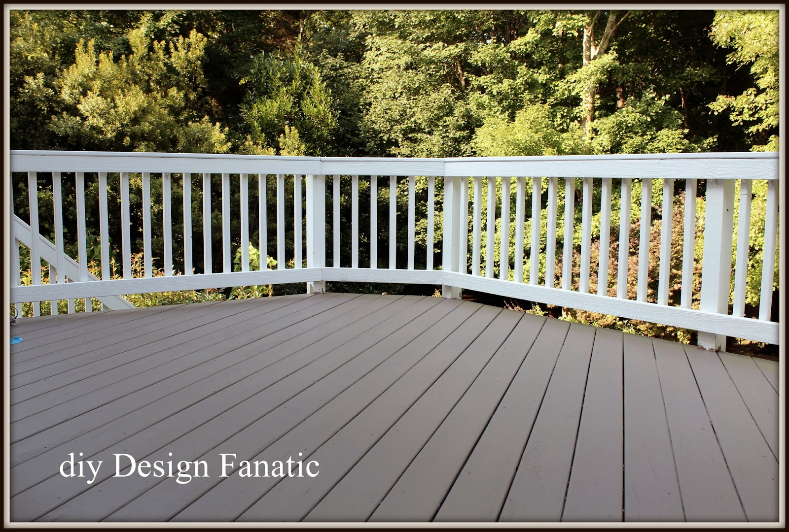 Diy design fanatic refinishing our deck for Deck paint colors home depot