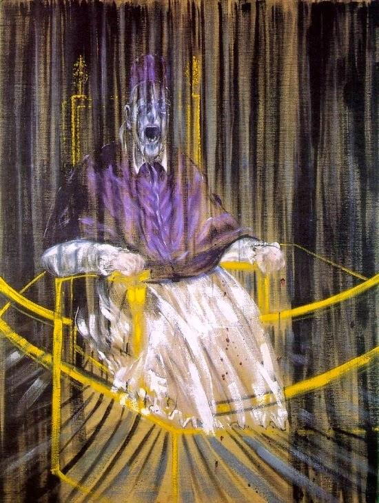 Estudo do Retrato do Papa Inocêncio X segundo Velázquez, Francis Bacon, pintura macabra, mortalha