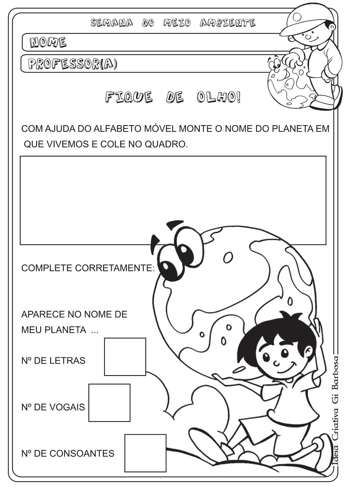 Muito Atividade Semana do Meio Ambiente | Ideia Criativa - Gi Barbosa  RI12