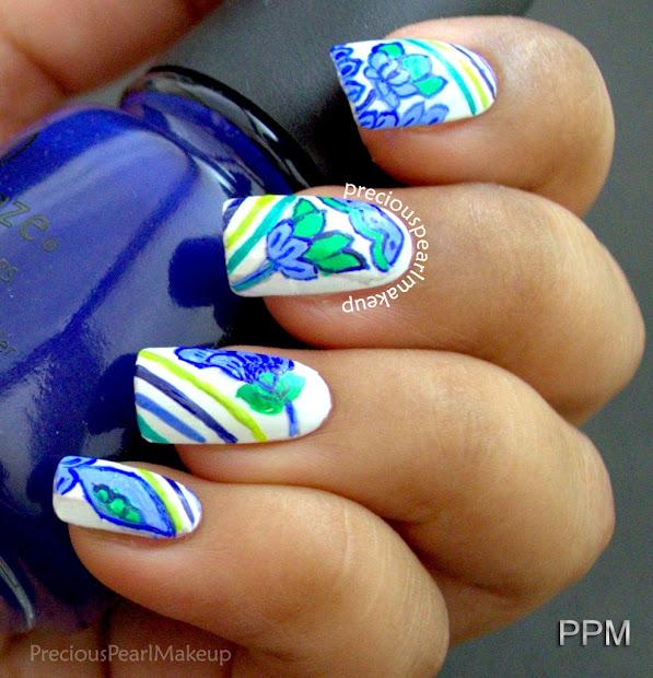preciouspearlmakeup blue and green