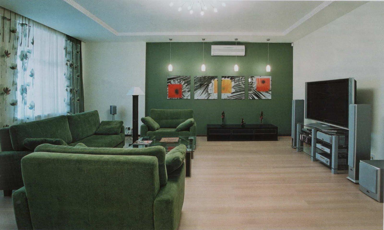 Refroidir Canapé Vert pour des idées de design Living Room