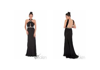 vestido escotado negro sibalen