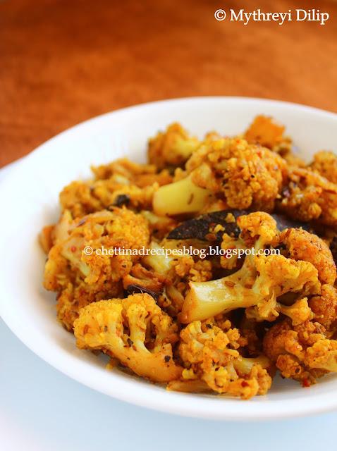 cauliflower milagu peratu / cauliflower pepper fry