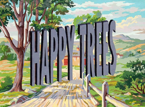 Happy Trees Vintage Paint By Number Painting