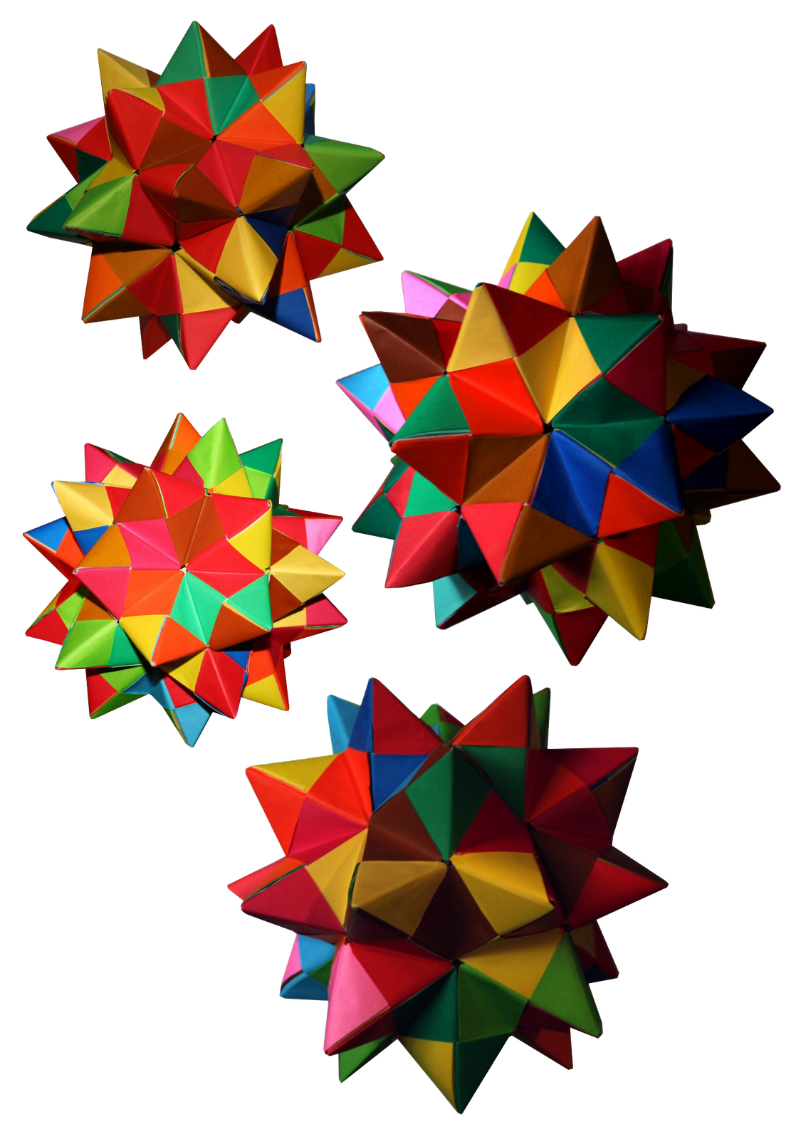 Origami Maniacs Spiked Pentakis Dodecahedron By Tomoko Fuse Diagrams