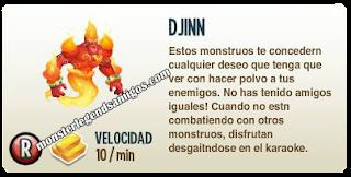 imagen de la descripcion del monstruo djinn