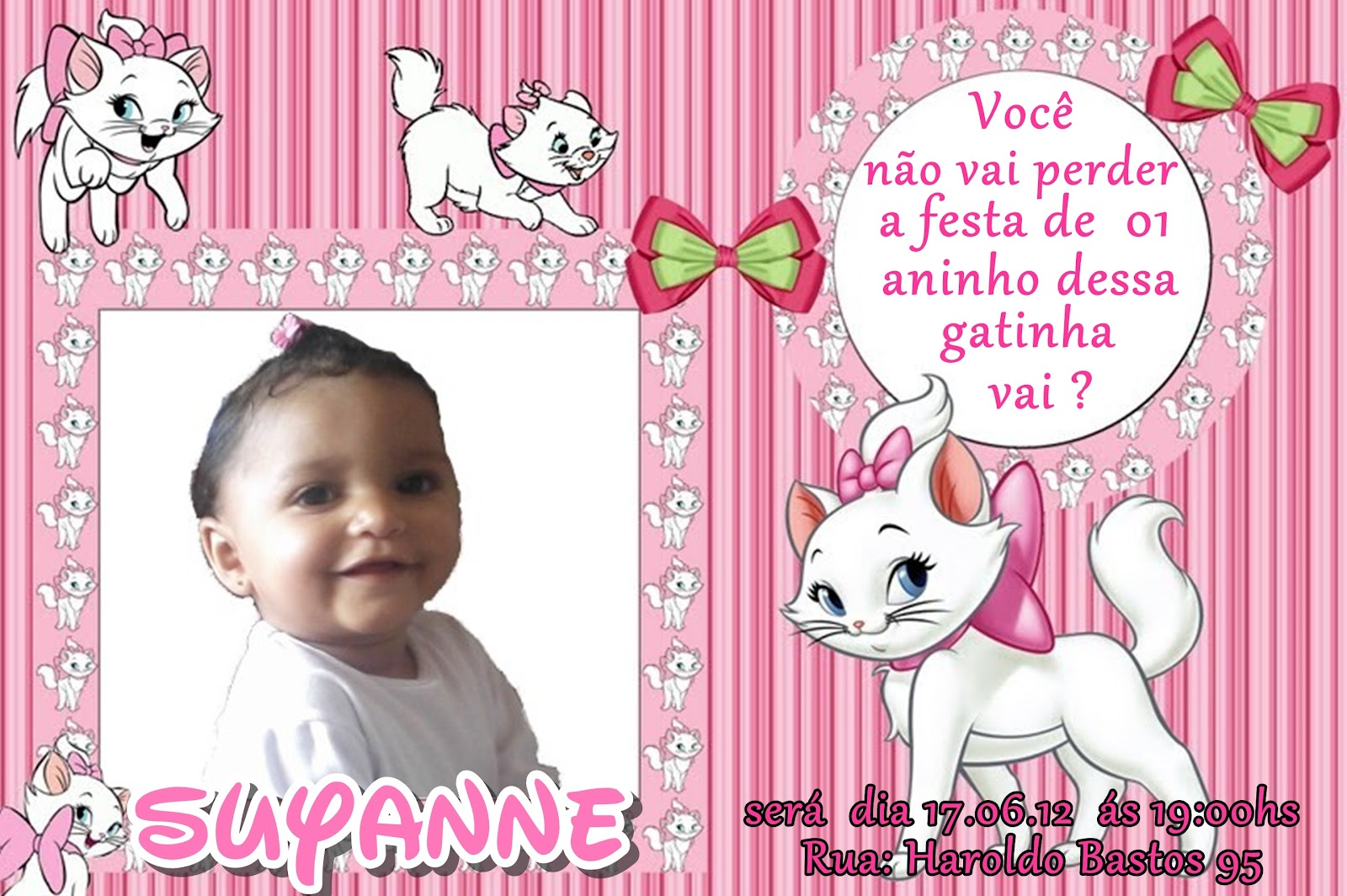 Convite De 01 Aninho Da Suyanne