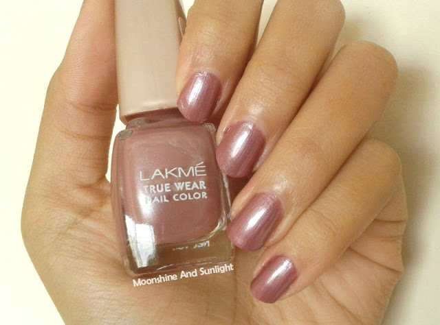 Lakme Truewear Wildflower Mauve Swatch , Review , Photos