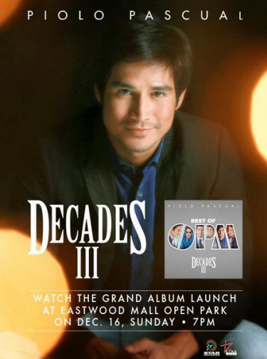"Piolo Pascual ""Decades 3: Best of OPM"" Album"