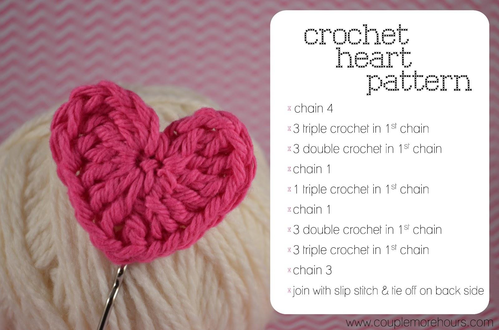 Crochet Patterns For Hearts : Tiny Crochet Heart Pattern Short Hairstyle 2013