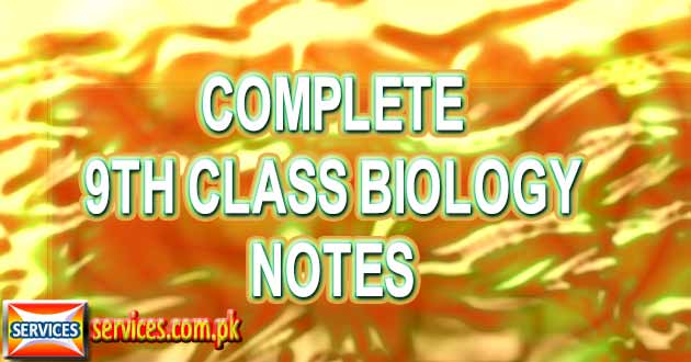 Complete 9th Class Biology Notes
