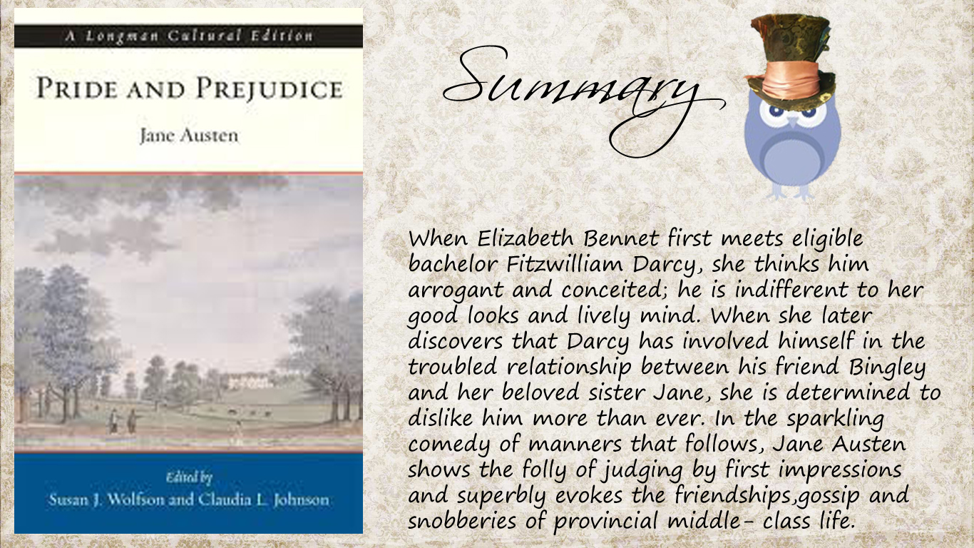 pride and prejudice book report summary