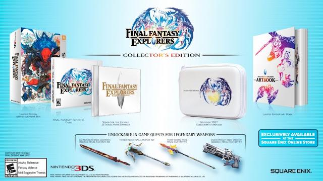 La edición coleccionista de Final Fantasy Explorers