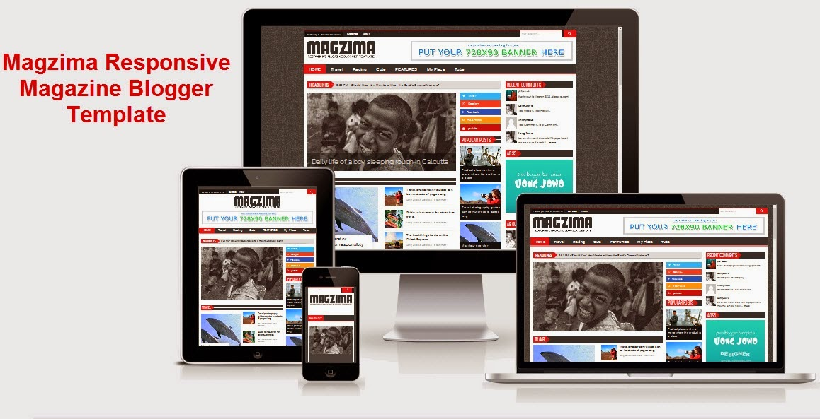 Share News blogger template: Magazine blogger templates free