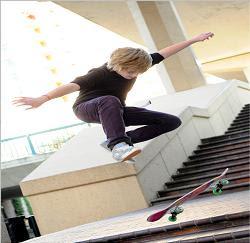 Preston skateboarding