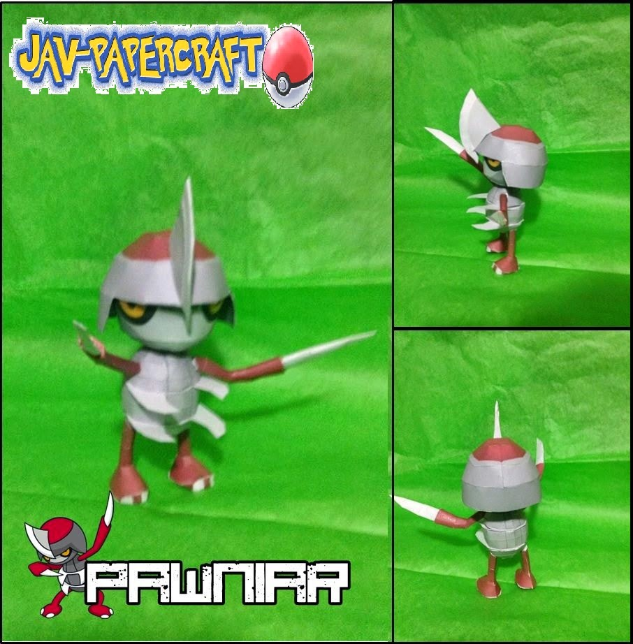 Pokemon Panwiard Papercraft