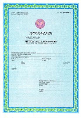 Syarat Permohonan Pembuatan Akta kelahiran - Klaten
