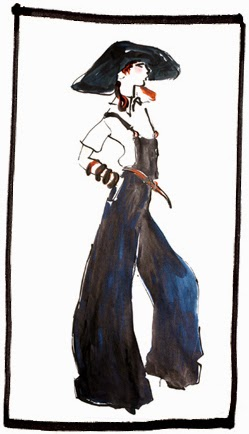 Dior fashion illustration by Gladys Perint Palmer