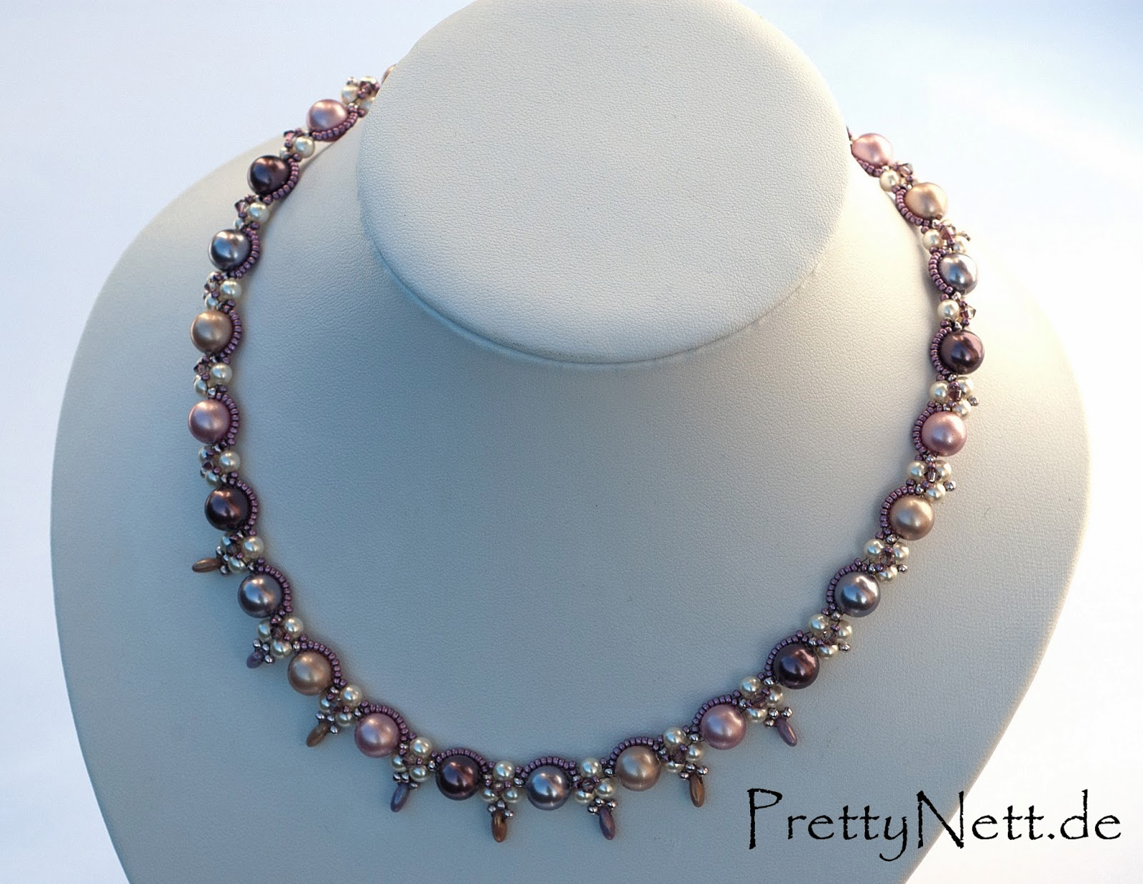 Kette Necklace True Romance Beading Tutorial Freebie