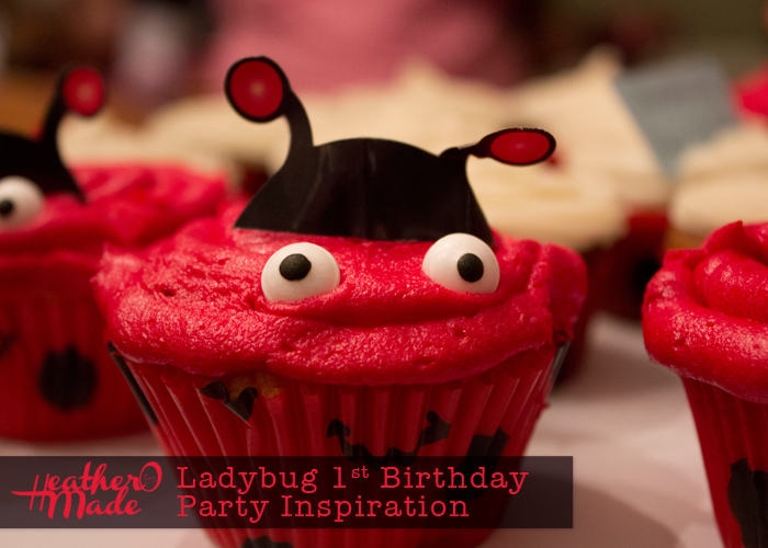 Ladybug 1st Birthday Party Inspiration. cupcakes