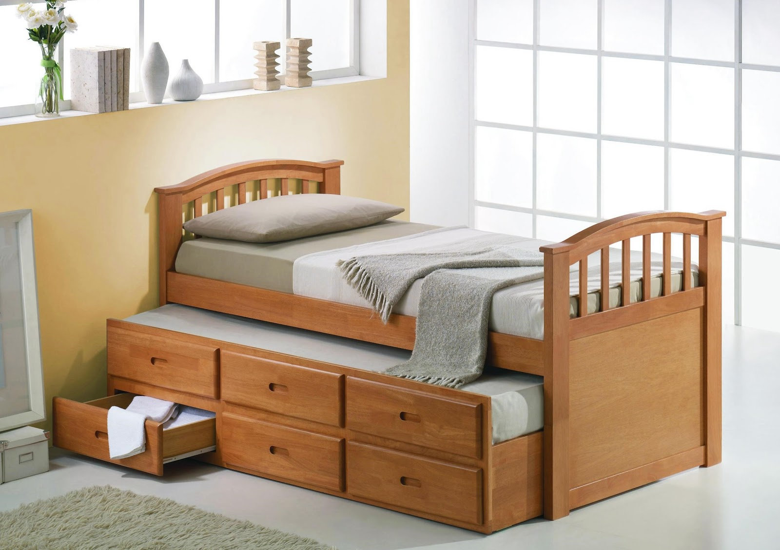 Woodwork wooden bed designs with storage in india pdf plans for Bedroom furniture design for small spaces