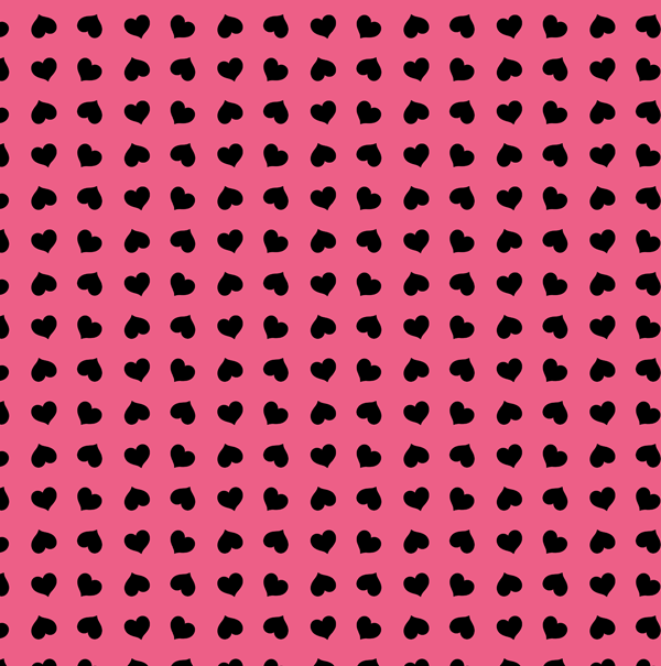 Paper with pink background and black hearts